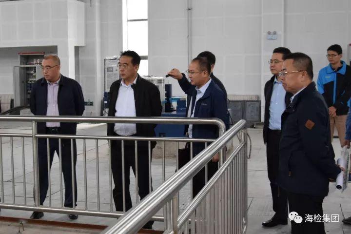 青岛地铁集团董事长贾福宁一行 调研海检中心